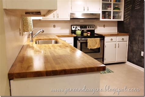 Installed Butcher Block Countertop
