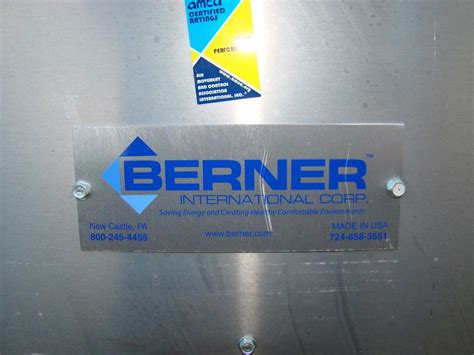 berner commerical air curtain overhead door fan vsa2096aa