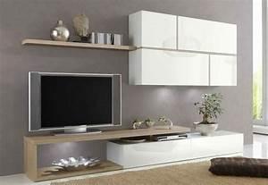 Meuble Tv Suspendu Conforama : meuble tv bois suspendu meuble tv design avec led ~ Dailycaller-alerts.com Idées de Décoration