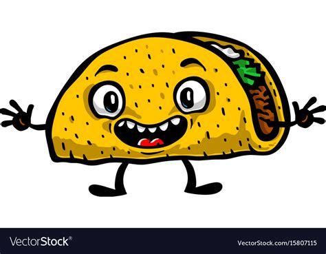 Cute Funny Cartoon Taco Royalty Free Vector Image