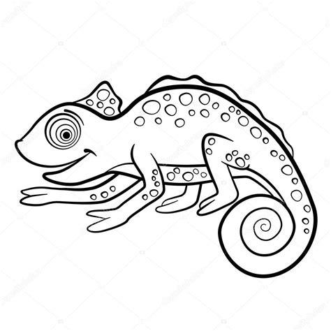 Kleurplaten Schattige Dieren by Kleurplaten Wilde Dieren Kleine Schattige Kameleon