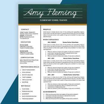 teacher resume template ideas  pinterest