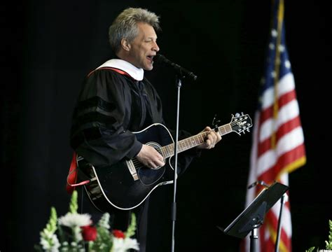 Jon Bon Jovi Performs Song For Rutgers Commencement