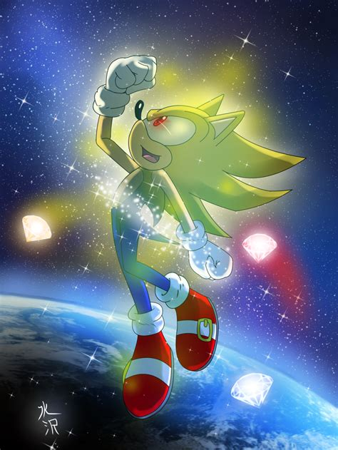 Sonic The Hedgehog Super Sonic Transformation 2 By