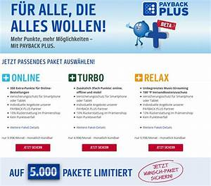 Payback Punkte Stand : payback plus lohnen sich die kostenpflichtige zusatzpakete basis online turbo und relax ~ Buech-reservation.com Haus und Dekorationen