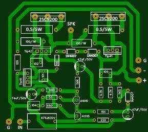 Circuit Amplifier Using Sony Hifi