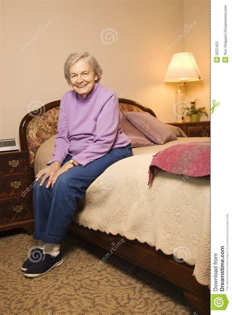 elderly caucasian woman  bedroom stock photo image  contact bedroom