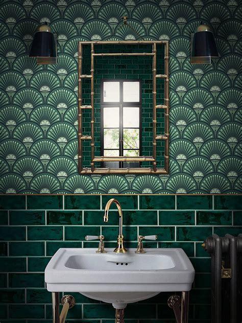 wallpaper  bathroom     sophie robinson
