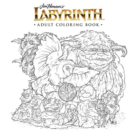 jim henson s labyrinth adult coloring book book by jim