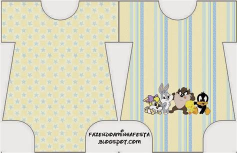 looney tunes babies  printable invitations   baby