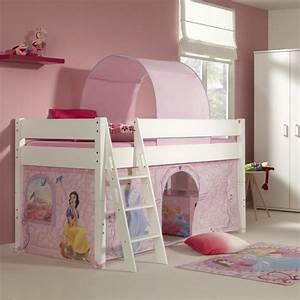 Lit En Hauteur Enfant : lit mi hauteur 90x200 pour enfant princesse disney achat ~ Melissatoandfro.com Idées de Décoration
