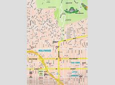 Large Hollywood, CA Maps for Free Download and Print