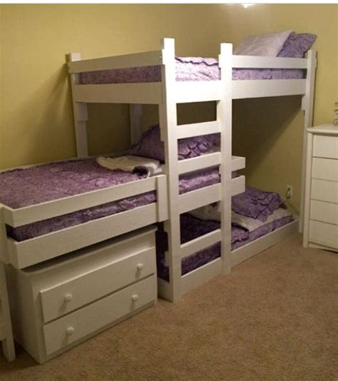 triple bunk bed plans kids triple bunk beds images