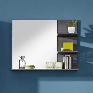 miroir salle de bain With miroir avec tablette salle de bain