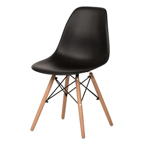 eames replica dining chair black