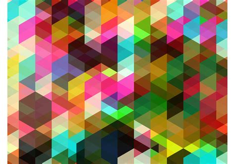 Abstract Colorful Geometric Shapes by Colorful Shapes Background Free Vector