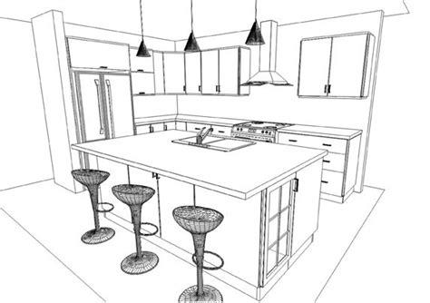 dessin de cuisine dessin armoire de cuisine table de lit