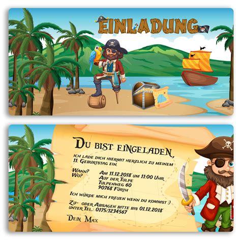 einladung zum geburtstag pirat schatzkarte