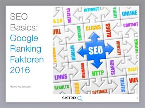 seo basics rankingfaktoren 2016 - Seo Basics 2016