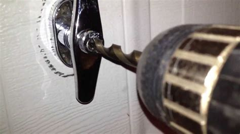 how to lock garage door how to drill out a garage door handle lock
