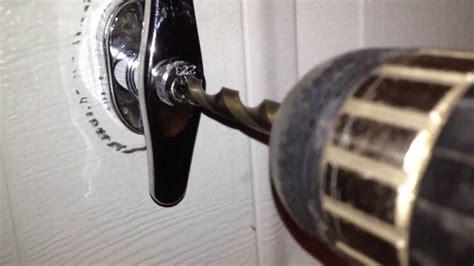 drill   garage door handle lock youtube
