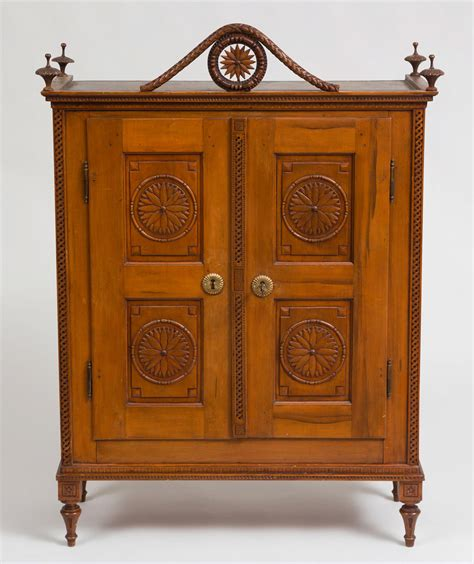 Armoire Cupboard by Antique Miniature Carved Fruitwood Armoire Cupboard