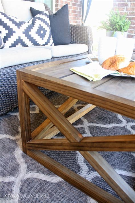 I built mine with cedar, but you can use pine if it will be sheltered from the elements. DIY outdoor coffee table   Outdoor coffee tables, Diy outdoor table, Coffee table with storage