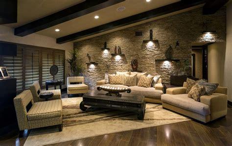 faux fur area beautiful exposed living room wall ideas