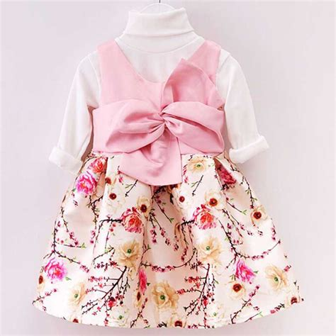 2015 new year baby girl dresses eudora dress with bow unique and retail 2 7 year toddler clothing princess formal