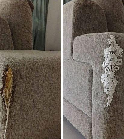 photo réparer un canapé déchiré