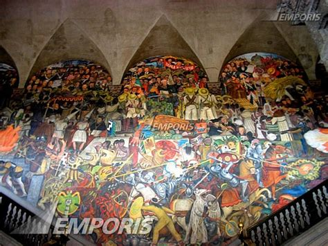 diego rivera s mural synopsis of the history of mexico