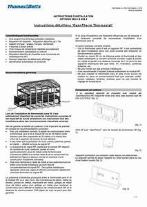 Instructions D U00e9taill U00e9es  U2018opentherm Thermostat