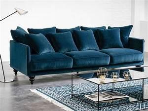 canape velours vert ou velours bleu joli place With tapis enfant avec canapé bleu marine velours