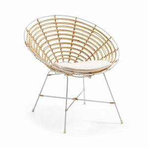 Fauteuil Rotin Rond : fauteuil design rond en m tal et rotin tellkar drawer ~ Dode.kayakingforconservation.com Idées de Décoration