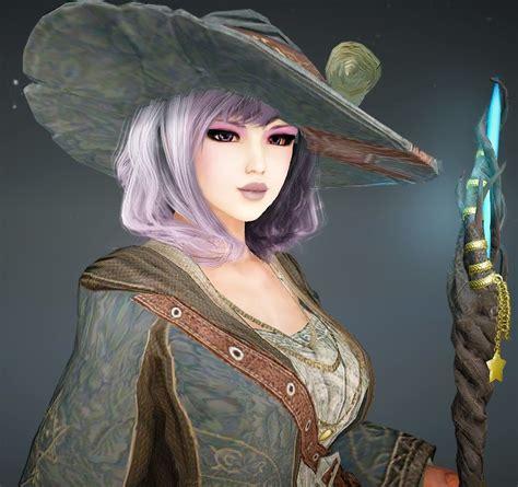 cute purple witch bdo black desert  character
