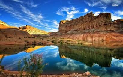 Canyon Grand Wallpapers Resolution Lake Sunset Desktop