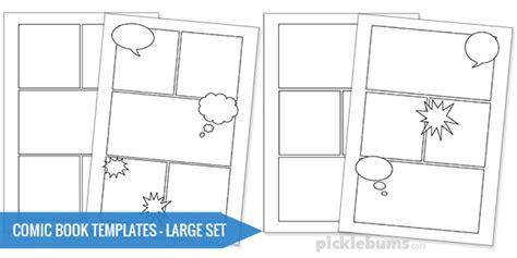 printable comic book templates picklebums