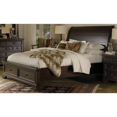 25880 california king bed with storage bayfield mahogany cal king storage bed
