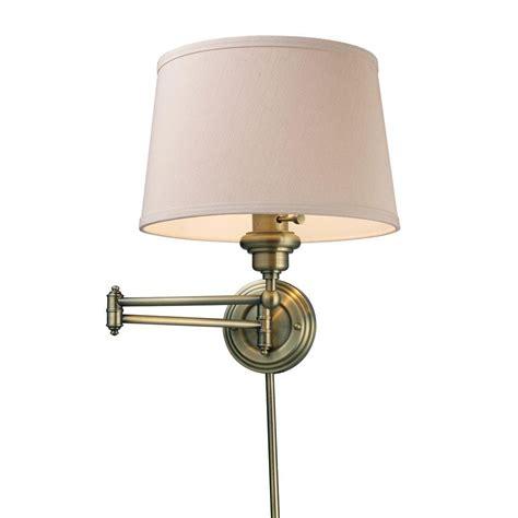 titan lighting westbrook 1 light antique brass swing arm