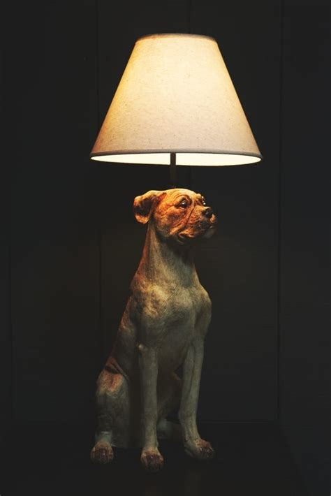 sitting dog table lamp  shade  sue parkinson