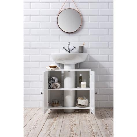 Stow Bathroom Sink Cabinet Undersink In White  Noa & Nani