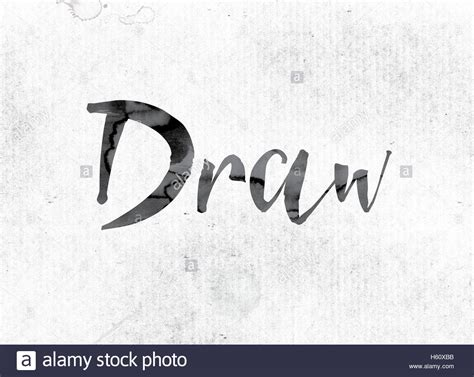 word draw concept  theme painted  watercolor