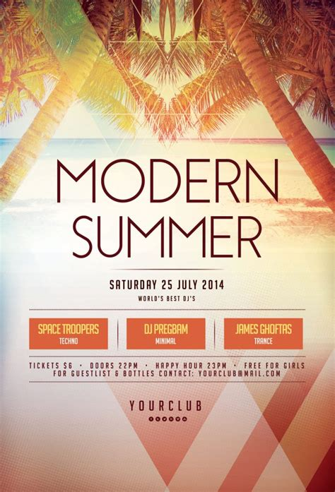 the best summer flyer templates in psd stylewish
