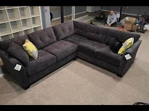 Dark grey sectional sofa youtube for Mason grey sectional sofa