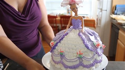 barbie cake cake decorating youtube