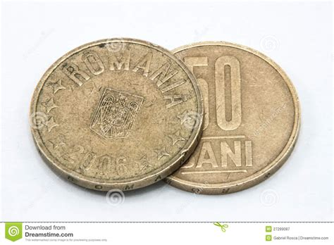 romanian coins royalty  stock photography image