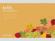 November 2018 Calendar Thanksgiving Turkey Calendar