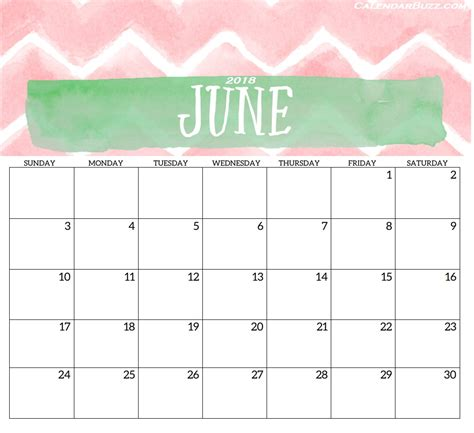calendar template june 2018 2018 monthly printable templates calendar 2018