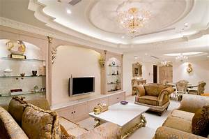 Beautiful ceiling in the living room wallpapers and images ...