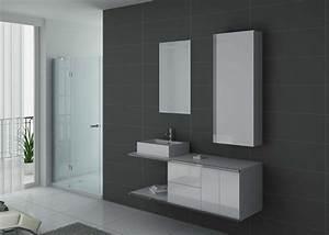 Meuble De Salle De Bain Solde : meuble de salle de bain simple vasque blanc dis9450b ~ Teatrodelosmanantiales.com Idées de Décoration